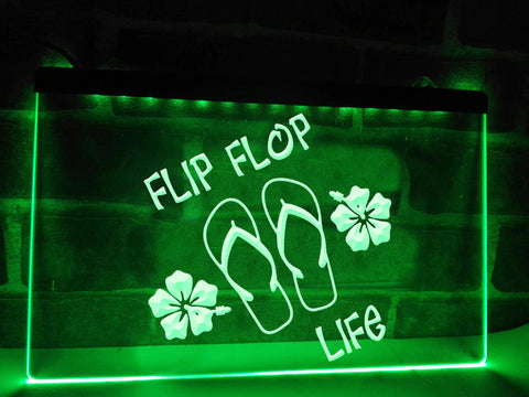 Image of Flip Flop Life Illuminated Sign