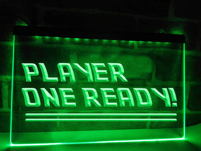Player One Ready Illuminated Sign