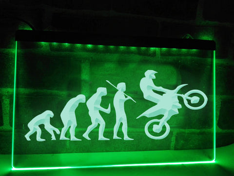 Motocross Evolution Illuminated Sign
