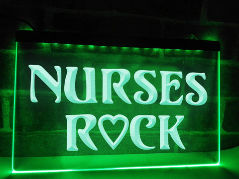 Image of Nurses Rock Illuminated Sign