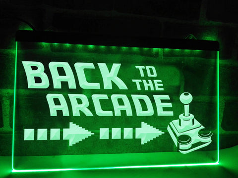 Image of Back To The Arcade Illuminated Sign