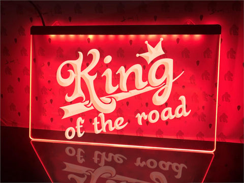 Image of King of The Road Illuminated Sign