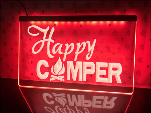 Image of Happy Campfire Camper Illuminated Sign