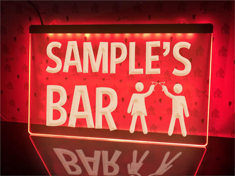 Image of Cheers Bar Personalized Illuminated Sign