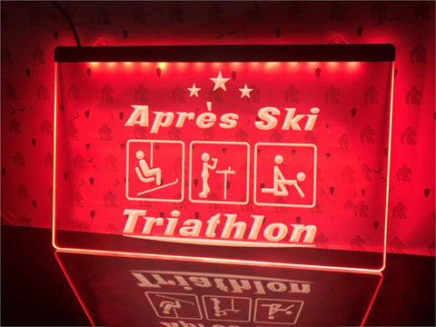 Image of Après Ski Triathlon Illuminated Sign