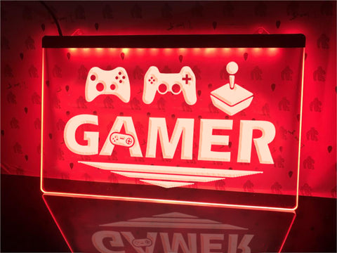 Image of All Round Gamer Illuminated Sign