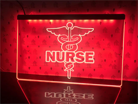 Image of Nurse Caduceus Illuminated Sign