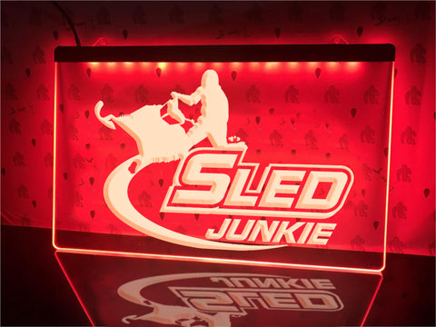 Sled Junkie Illuminated Sign