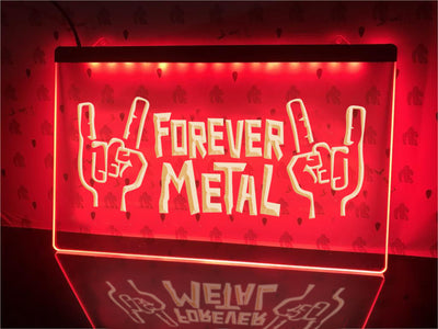 Forever Metal Illuminated Sign