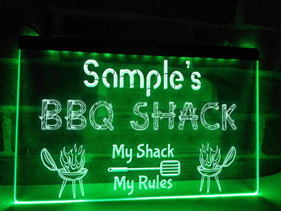 BBQ Shack Sign Green