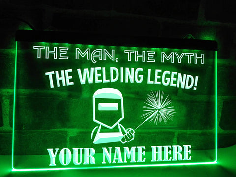 Image of Welding Legend Personalized Illuminated Sign
