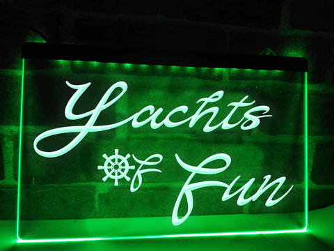 Yachts of Fun Illuminated Sign