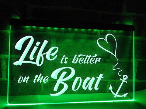 Image of Life is Better on the Boat Illuminated Sign
