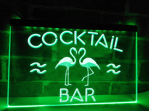 Image of Flamingo Cocktail Bar Illuminated Sign