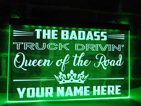 Image of Queen of the Road Personalized Illuminated Sign