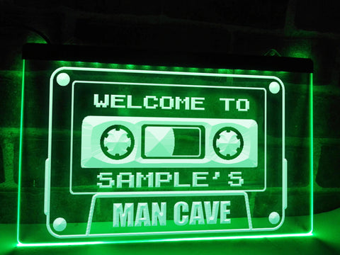 Retro Man Cave Personalized Illuminated Sign