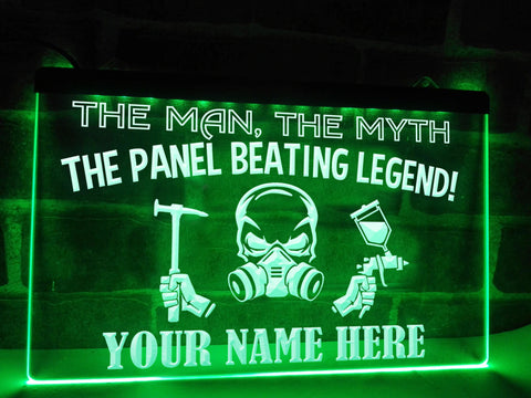 Image of Panel Beating Legend Personalized Illuminated Sign