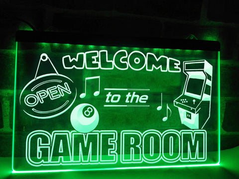 Welcome to the Game Room Illuminated Sign