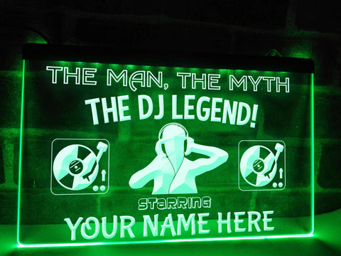 Image of Neon DJ sign