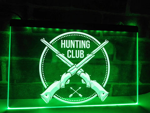 Hunting Club Illuminated Sign