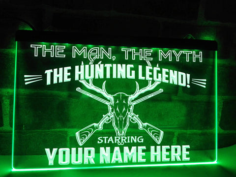 Image of Hunting Legend Personalized Illuminated Sign