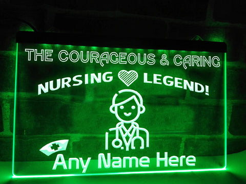 Image of Nursing Legend Personalized Illuminated Sign
