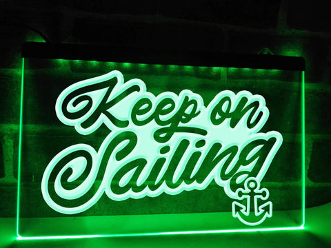 Keep On Sailing Illuminated Sign