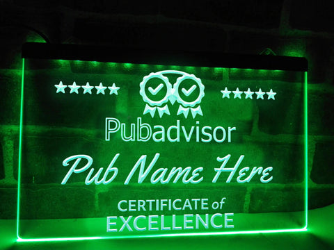 Pub Advisor Personalized Illuminated Sign