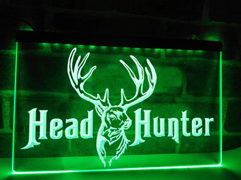 Image of Head Hunter Illuminated Sign