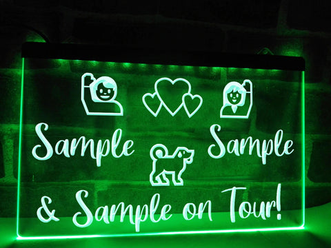 Image of On Tour with Dog Personalized Illuminated Sign