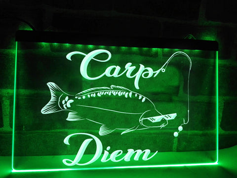 Image of Carp Diem Illuminated Sign