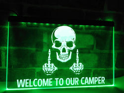 Welcome To Our Camper Illuminated Sign
