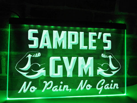 Image of No Pain, No Gain Personalized Illuminated Sign