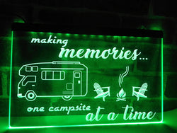 Making Memories in Motorhome Illuminated Sign