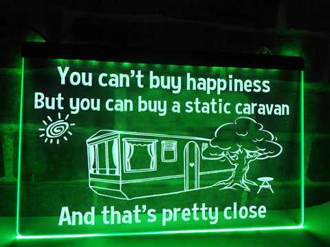Image of Static Caravan Illuminated Sign