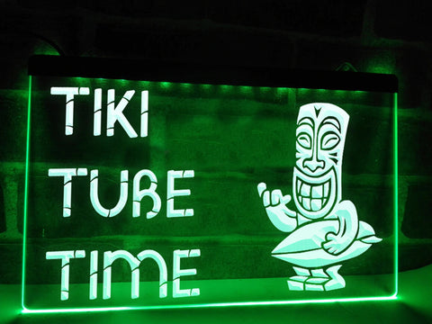 Tiki Tube Time Illuminated Sign