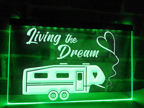 Image of 5th Wheel Living the Dream Illuminated Sign