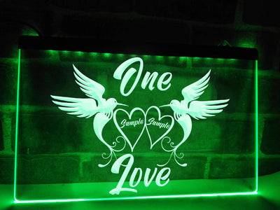 One Love Personalized Illuminated Sign
