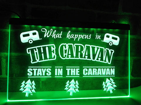 Image of What Happens in the Caravan Illuminated Sign