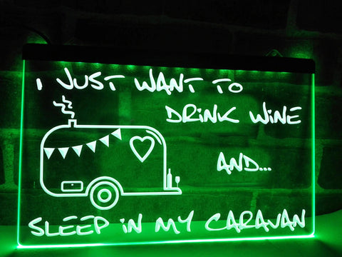 Image of I Just Want to Drink Wine Illuminated Sign