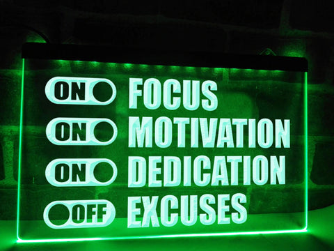 Gym Motivation Illuminated Sign