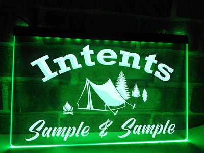Intents Personalized Illuminated Sign