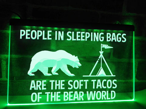 Soft Tacos Funny Illuminated Sign