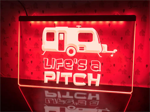 Image of Life's a Pitch Illuminated Sign