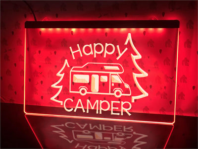 Happy Camper Motorhome Illuminated Sign