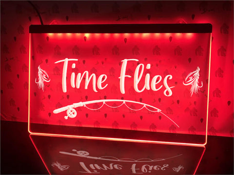 Image of Time Flies Illuminated Sign