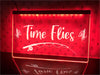 Time Flies Illuminated Sign