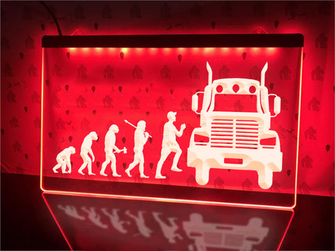 Image of Trucker Evolution Illuminated Sign