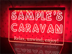 Your Caravan Personalized Illuminated Sign