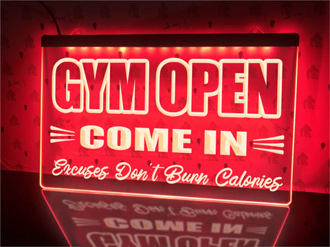Image of Gym Open Come In Illuminated Sign
